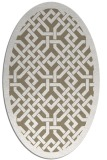rug #885615 | oval mid-brown borders rug