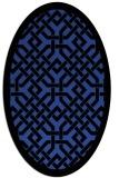 rug #885631   oval black borders rug