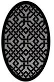 rug #885635 | oval borders rug