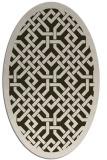 rug #885640 | oval traditional rug