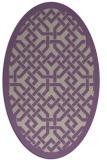 rug #885643 | oval purple rug