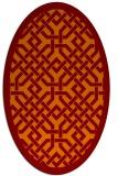 rug #885659 | oval orange borders rug