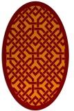 rug #885661 | oval borders rug