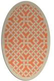 rug #885667 | oval orange borders rug