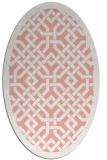rug #885687 | oval white borders rug