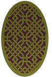 rug #885695 | oval purple traditional rug