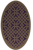rug #885699 | oval purple geometry rug