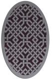 rug #885703 | oval purple borders rug
