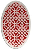 rug #885707 | oval red traditional rug