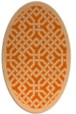 rug #885727 | oval red-orange traditional rug