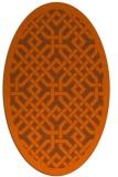 rug #885731 | oval red-orange rug