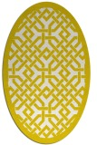 rug #885743 | oval white borders rug