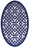 rug #885747 | oval white borders rug