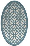rug #885755   oval white borders rug