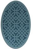 rug #885757 | oval traditional rug