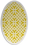 rug #885775 | oval yellow borders rug