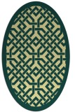 rug #885783 | oval yellow borders rug