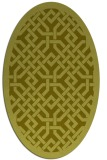 rug #885787 | oval light-green borders rug