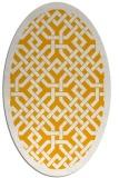 rug #885803 | oval light-orange borders rug