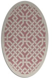 rug #885807 | oval pink geometry rug