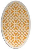 rug #885815 | oval light-orange popular rug