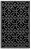 rug #885827 |  black borders rug