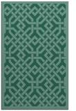 rug #885875 |  blue-green borders rug