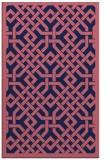 rug #885915 |  blue-violet borders rug