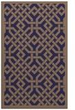 rug #885927 |  blue-violet traditional rug