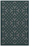 rug #885943 |  blue-green borders rug