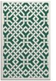 rug #885947 |  green borders rug
