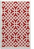 rug #886067 |  red borders rug