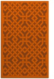 rug #886083 |  red-orange traditional rug