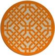 rug #886171 | round orange borders rug