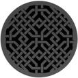 rug #886179 | round black rug