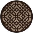 rug #886186 | round borders rug