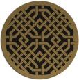 rug #886199 | round black traditional rug