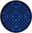 rug #886203 | round blue geometry rug