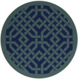 rug #886211 | round blue traditional rug