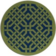 rug #886215 | round blue traditional rug