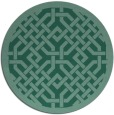 rug #886227 | round blue-green borders rug