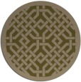 rug #886287 | round mid-brown traditional rug
