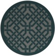 rug #886295 | round blue-green geometry rug