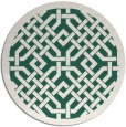 rug #886299 | round green geometry rug