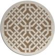 rug #886315 | round beige borders rug