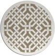 rug #886319 | round white traditional rug