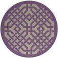 rug #886347   round purple rug