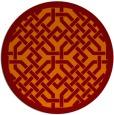 rug #886363 | round red-orange borders rug