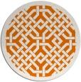 rug #886367 | round orange borders rug