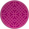 rug #886379 | round pink borders rug